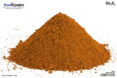 Antimony(V) sulfide, pure (>60% Sb)