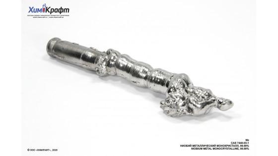 Niobium zone refined monocryst. rod, (366g) 99.99%