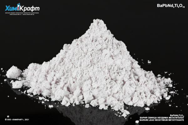 Barium lead(II) neodymium(III) metatitanate, 99%