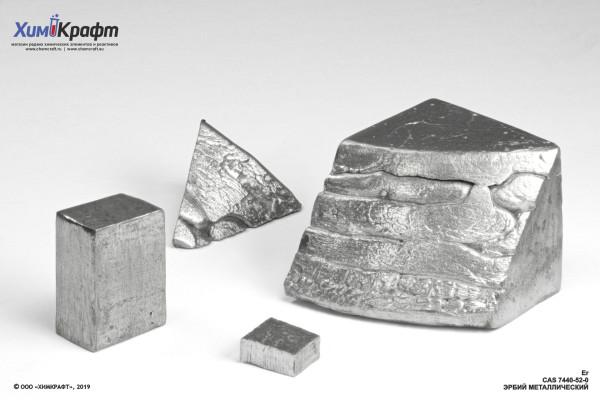 Erbium melted metal, 99.9%